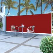 vidaXL Toldo lateral retrátil 180 x 500 cm vermelho