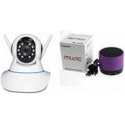 Zemini Wifi CCTV Camera and S10 Bluetooth Speaker for LENOVO a2010(Wifi CCTV Camera with night vision |S10 Bluetooth Speaker)