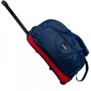Wellmount (Expandable) Stylish & Spacious Weekender 20inch/50cm Two Wheel Travel Duffle Trolley Bag- Blue Duffel Strolley Bag(Blue)