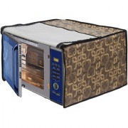 Glassiano Geometric Gold Printed Microwave Oven Cover for IFB 30 Litre Convection Microwave Oven 30FRC2 Floral Pattern