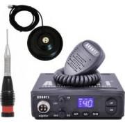 Pachet statie radio CB Avanti Alpha PRO-version + Antena radio CB Storm ML145 Black si baza magnetica 145 PL