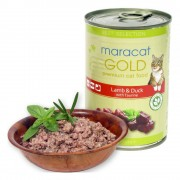 Hrana umeda pentru pisici Maracat Gold cu Miel si Rata, 400g