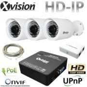 IP Kamerový set 3x HD IP bullet kamera + NVR