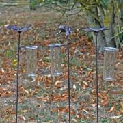 Set 3 Pluviomètres Grenouille, Papillon, Libellule