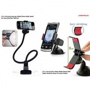 Combo of Universal Long Lazy Mobile Phone Holder Stand And One clip mobile Holder