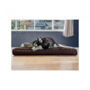 FurHaven Ultra Plush Deluxe Cooling Gel Pillow Dog Bed w/Removable Cover, Chocolate, Jumbo