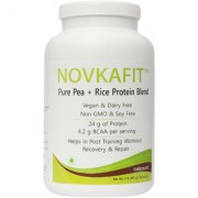 Novkafit Pure Pea + Rice Protein Blend 2 lbs (907 g) Chocolate (With 600 Ml Shaker)