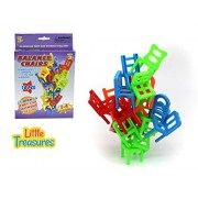 Balance Chairs - designed for 3+ kids 18 pcs of educational mind game of piling and balancing little colorful chairs for solo play or with friends, get as high as you can without falling or dropping