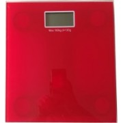 Lemish Body Bathroom Scale Digital Fat Weight Scales Analysis Electronic Weighing Glass-RED Color Weighing Scale(Red)