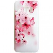 Husa Silicon 3D Relief Flower Pink Samsung Galaxy S6 Edge