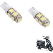 Auto Addict Scooty T10 9 SMD Headlight LED Bulb for Headlights Parking Light Number Plate Light Indicator Light For Hero Maestro Edge 125