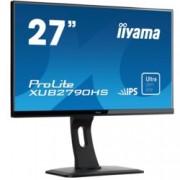"""Монитор Iiyama Prolite XUB2790HS-B1, 27""""(68.58 cm) IPS панел, Full HD, 5ms, 5 000 000:1, 250 cd/m2, HDMI, DVI, VGA"""