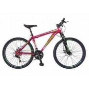 Bicicleta MTB-HT 24 VELORS V2409A Cadru otel Culoare fucsia-verde