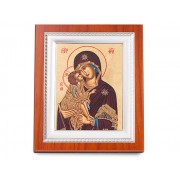 Icoana Fecioara Maria si Iisus Credan placata cu aur made in Spain
