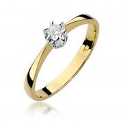 Biżuteria SAXO 14K Pierścionek z brylantem 0,10ct W-111 Złoty RATY 0% | GRATIS WYSYŁKA | GRATIS ZWROT DO 1 ROKU | 100% ORYGINAŁ!!