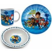 Set de luat masa pentru copii, Paw Patrol Albastru