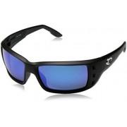 Costa del Mar Unisex-Adult Permit PT 11 OBMGLP Polarized Iridium Wrap Sunglasses, Matte Black, 61.5 mm