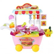 Pink Kids Children Fun Home Kitchen Play set Cooking Play Educational Toy Pretend Play Best Christmas Gift