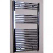 Designradiator Recht Sanicare 111.8x45cm 435 Watt Chroom Zijaansluiting