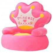 """vidaXL vidaXLi plüüsist lastetool """"Princess"""", roosa"""