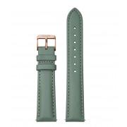 CLUSE Horlogebandjes Strap 18 mm Leather Rose Gold Plated Groen