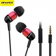 Audífonos Bluetooth Manos Libres Inalámbricos, AWEI ES-Q8i En El Oído De Los Deportes De Aislamiento De Ruido Super Deep En El Oído De Los Auriculares (Rojo)