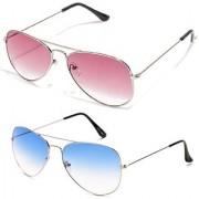 Magjons Aviator Sunglasses Combo Set of 2 With box MJ7722