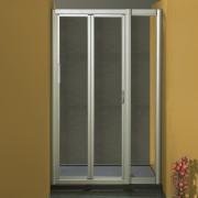 Porta doccia soffietto 1002/F da 107/115 cm in cristallo 4 mm Brill Satinato