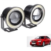 Auto Addict 3.5 High Power Led Projector Fog Light Cob with White Angel Eye Ring 15W Set of 2 For Chevrolet Cruze