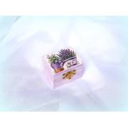Cutiuta din lemn - model floral - 0557