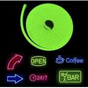 Svetelné logo cez flexibilný neón pásik 5M s IP68 krytie - Zelený