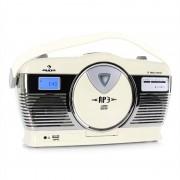 auna RCD-70 Retroradio UKW USB CD Batterie creme