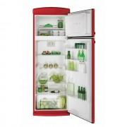 Frigider cu 2 usi Candy CVRDS 6174RH, Static, 304 L, Control mecanic, Iluminare interioara LED, Sertar fructe/legume, H 175 cm, Clasa A++, Rosu