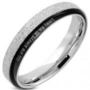 Fekete és ezüst színű nemesacél gyűrű