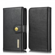 DG.MING Split Leather Stand Wallet Style Phone Case for iPhone 11 Pro 5.8 inch - Black