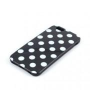 Husa Silicon Polka Dots Neagra Cu Buline iPhone 6 Plus / 6S Plus