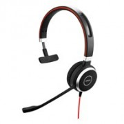 Jabra Mono headset ONLY for Jabra EVOLVE 40 UC with 3.5mm Jack (without USB Controller), headband, discret boomarm