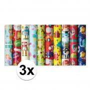 Geen 3x Inpakpapier kinder verjaardag met zeemeermin thema 200 x 70