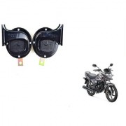 KunjZone Roots Windtone Black Horn Set For Honda CB Shine Self-Drum