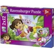 PUZZLE DORA 2x12 PIESE Ravensburger
