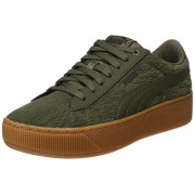 Puma Women's Puma Vikky Platform Vr Olive Night-Olive Night Sneakers - 5 UK/India (38 EU)(36373001)