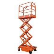 BSJY0.3-39 személyemelő, 5,9 méter munkamagasságú szerelőkosár. Elektromos, akkumulátoros emelés, kézi mozgatású mobil emelő