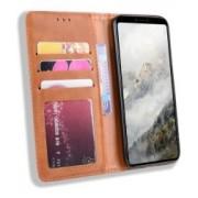 Google Pixel 4 XL Hoesje Retro Wallet Book Case Kunst Leer Bruin
