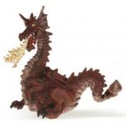 Figurina Papo - Dragon rosu cu flacara