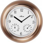 Ceas de perete cuarţ 255 mm cupru Atlanta Uhren 4446