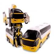 IndusBay 1:10 RC Infrared Remote Control Transformer Bus 2.4G Deformation Transformers Robot Big Size Bus Yellow