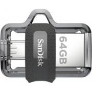 SanDisk Ultra Dual SDDD3-064G-I35 64 GB Pen Drive(Grey, Silver)