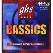 GHS Strings M6000 4-String Bassics Nickel-Plated Electric Bass Strings Long Scale Medium (.044-.106)