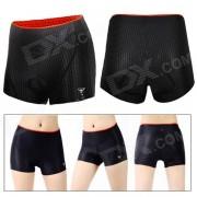 Al aire libre de la mujer de ciclismo de silicona transpirable pad antibacteriano pantalones cortos - negro (tamano L)