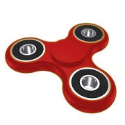 Fidget Spinner Tri-Spinner Anti-Anxiety 360 Spinner Helps Focusing Fidget Toys [3D Figit] Premium Quality EDC Focus Toy for Kids & Adults-Best Stress Reducer Relieves ADHD Anxiety and Boredom Ceramic Cube Bearing Hand Spinner-Red